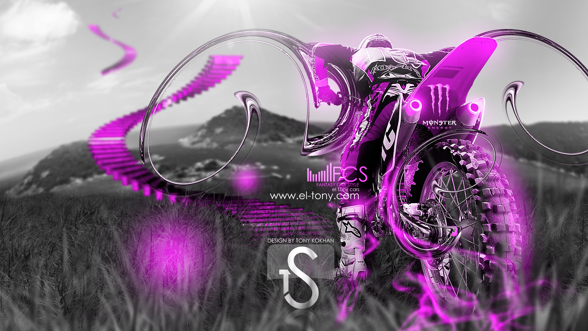 Pink And Purple Monster Energy Logo Monster energy motocross bikerMonster Energy Purple